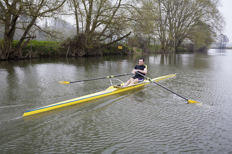 Download Single Scull on Avon River stock image. Image of horizontal - 34567321