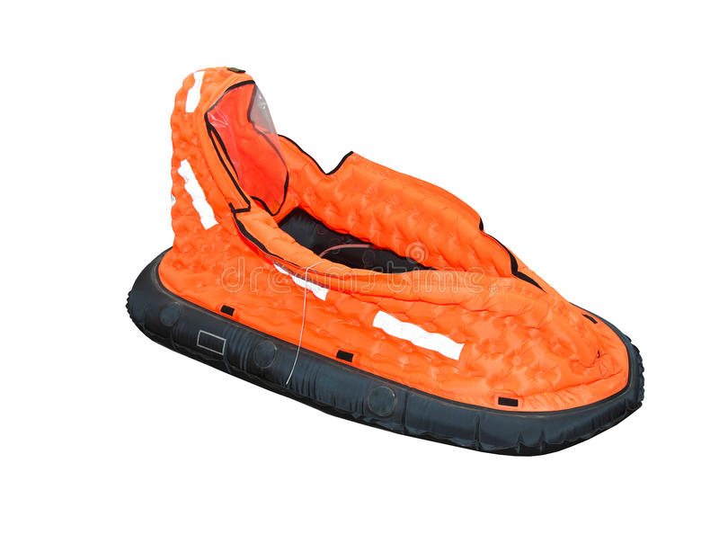 Single seat life raft. Isolated included clipping path stock images