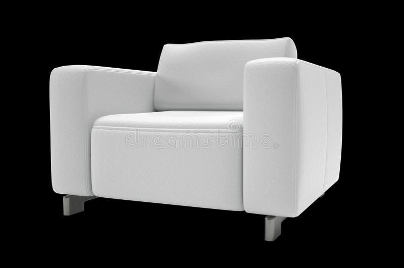 Single seat sofa. On black background stock images