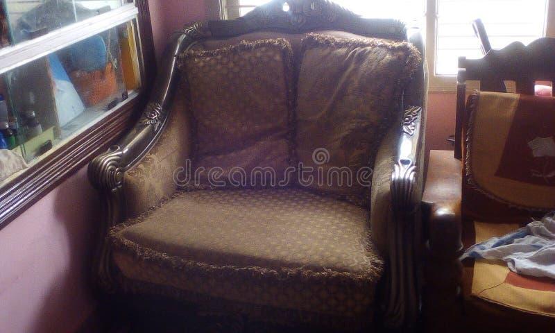 Single seating sofa with chusion. Fantastic beautiful sofa stock images