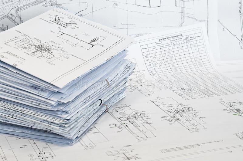 Single-sheet kantoorbehoeften van ontwerptekeningen royalty-vrije stock foto's