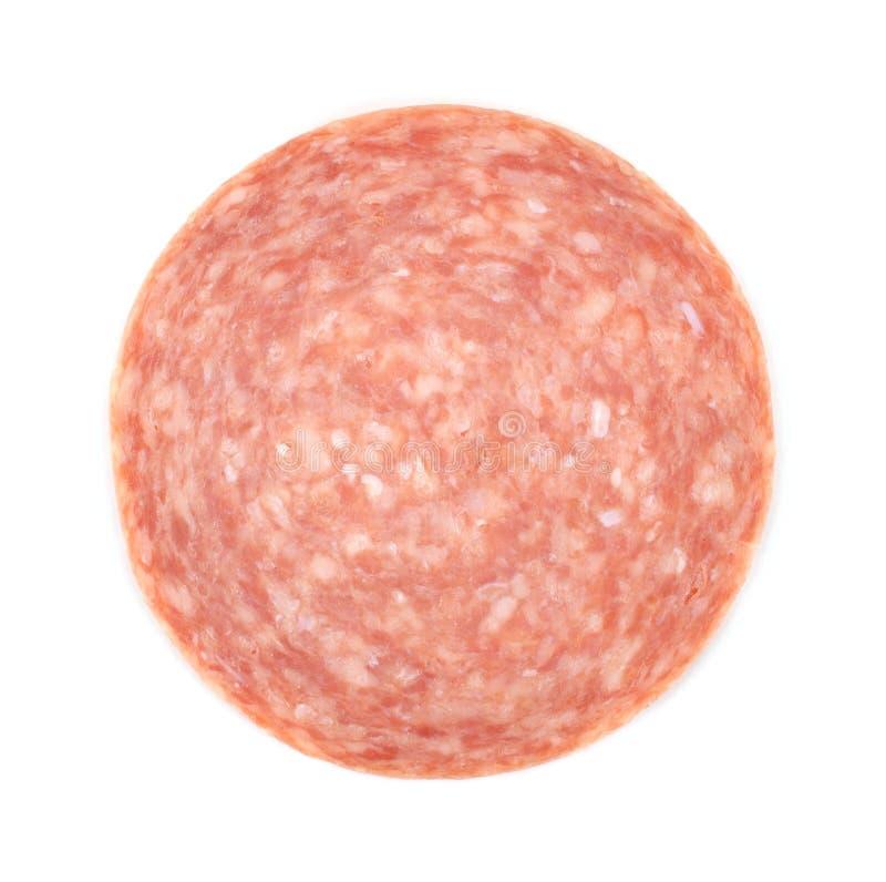 Single Slice Of Genoa Salami Royalty Free Stock Image