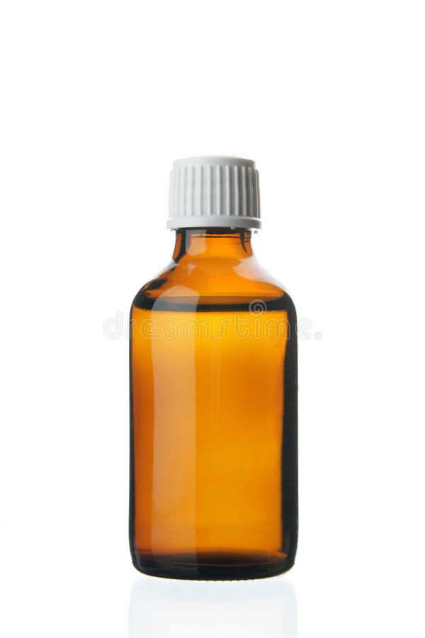 Single Small Bottle With Drug Royalty Free Stock Image