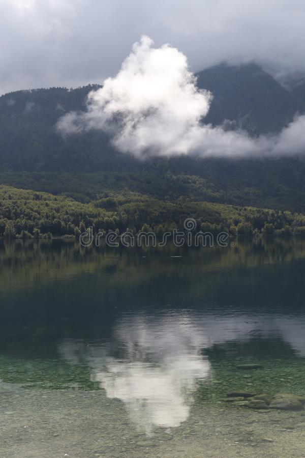 Lake Bohinjsko jezero, Bohinj, Slovenia, Europe stock photography