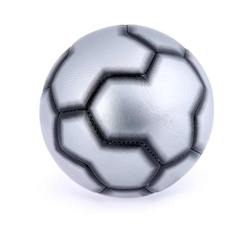Single soccer ball stock image