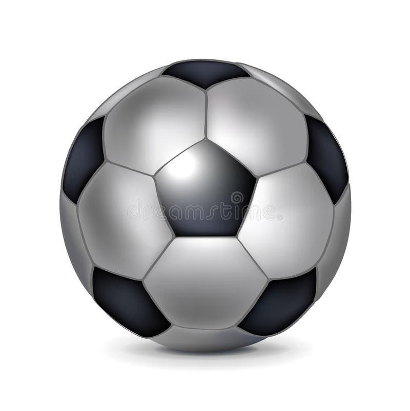 Single soccer ball royalty free illustration