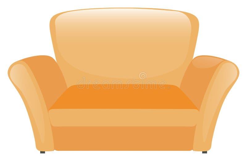 Single sofa in yellow color. Illustration vector illustration