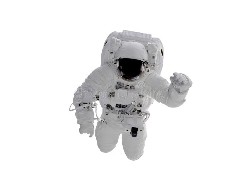 Space Astronaut isolated on white background. Elements of this image were furnished by NASA royalty free stock photo