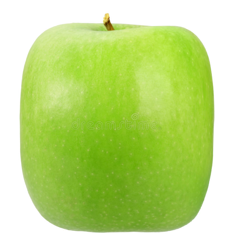 Download Single square green apple stock image. Image of nature - 16001601
