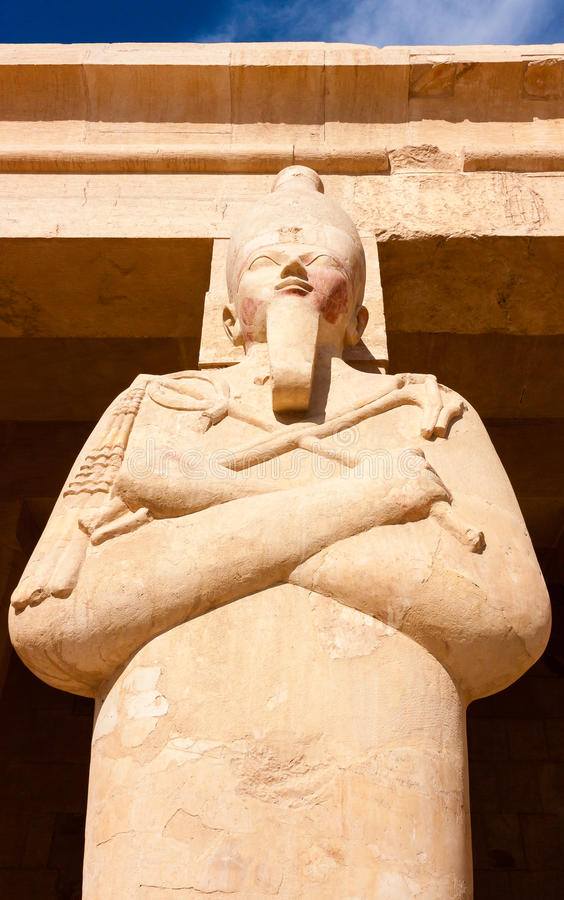 Single Statue Of The Egyptian God Osiris Stock Photography