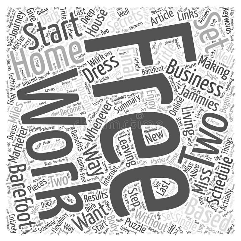 Single Step Starting Your Own Home Based Business word cloud vector illustration