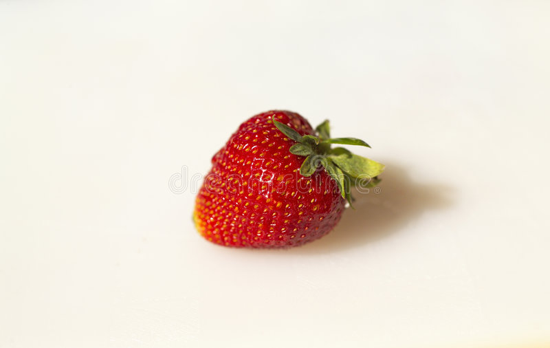 Download Single Strawberry on white stock photo. Image of berry - 102658
