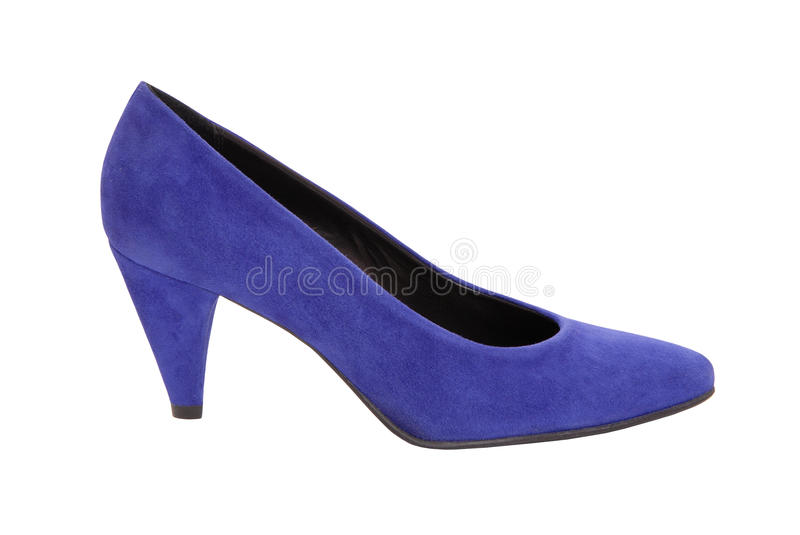 Single suede shoe royalty free stock photography