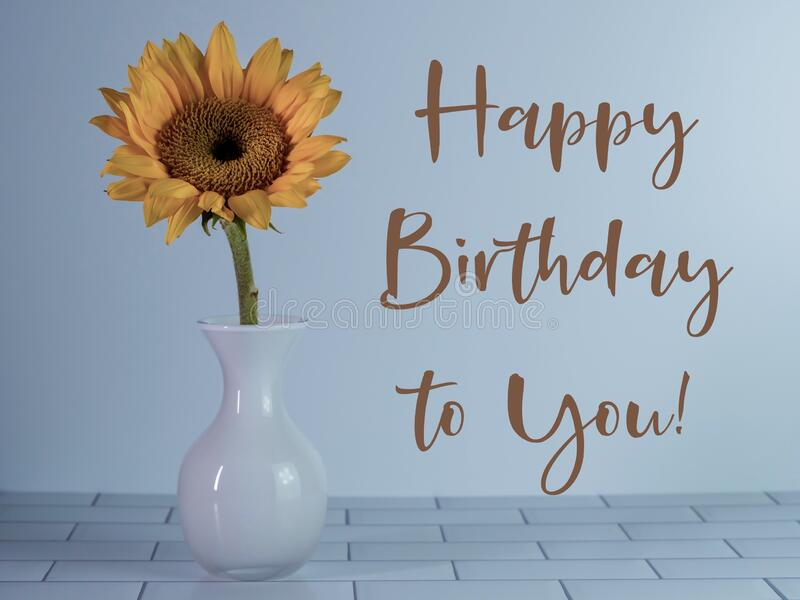 170 Sunflower Happy Birthday Card Photos Free Royalty Free Stock Photos From Dreamstime