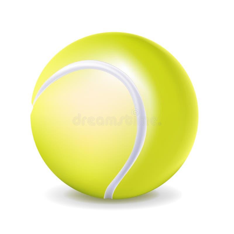 Single tennis ball stock illustration