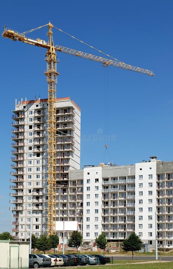 Single tower column crane loader stock photos