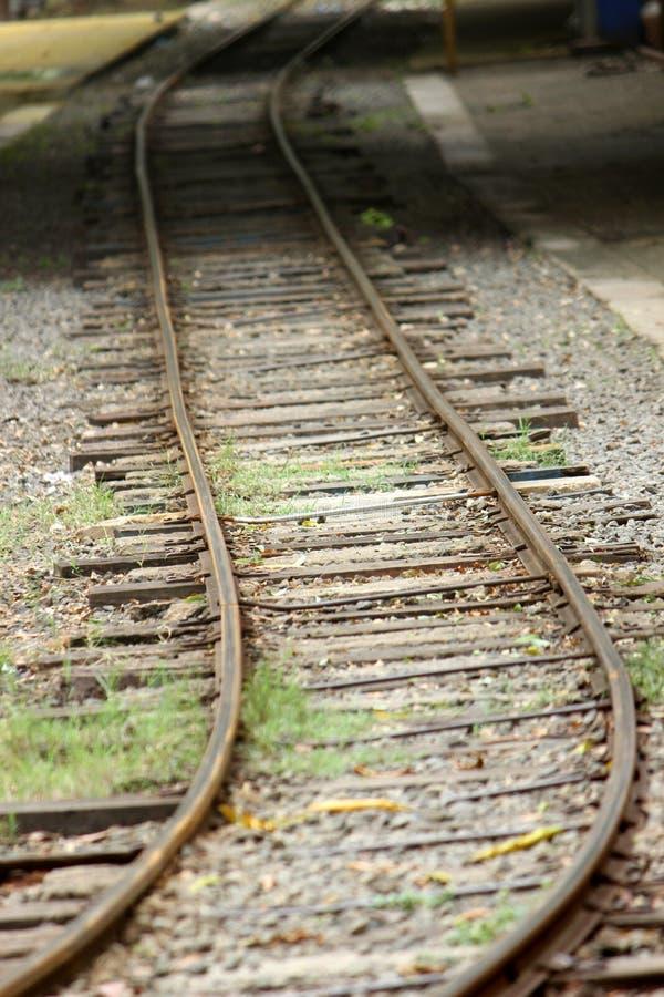 Single Train Track royalty free stock image