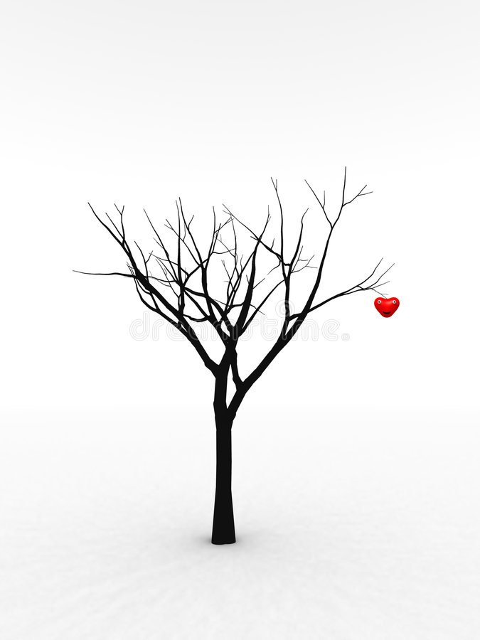 Download Single Tree With Love stock illustration. Image of marriage - 1869974