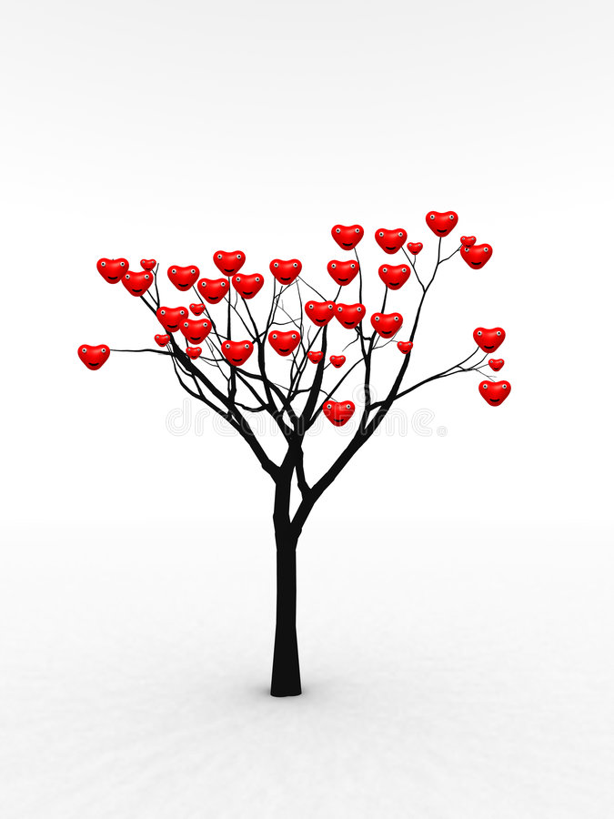 Single Tree With Love 6 Royalty Free Stock Photography