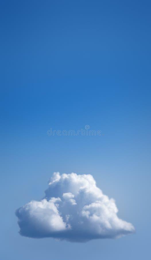 Single white cloud in blue sky