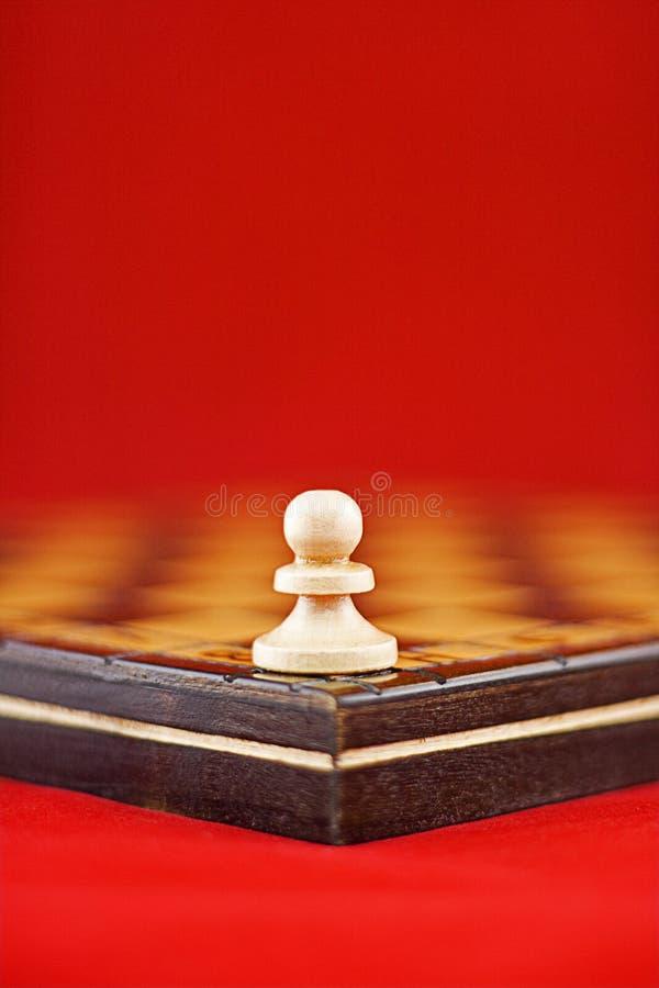 Single White Pawn Stock Image