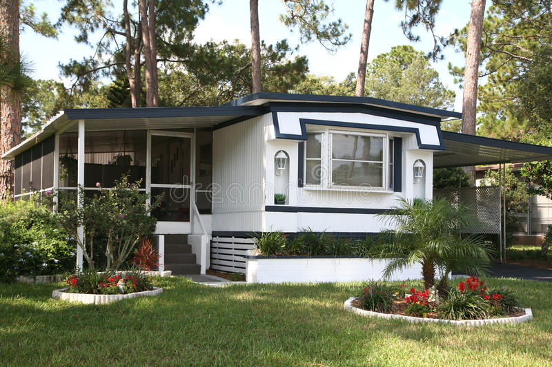 Download Single wide mobile home stock image. Image of cost, mobile - 10728207