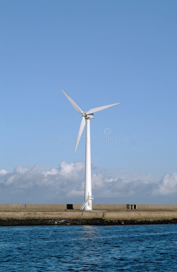 Download Single wind turbine stock photo. Image of clean, blue, environment - 17952