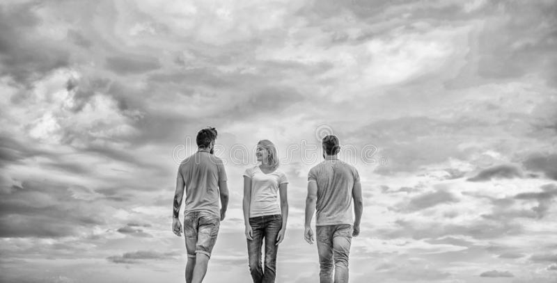 Single woman choosing freedom independence over relationships. Free choice. Young and free. Feeling free to choose stock photography