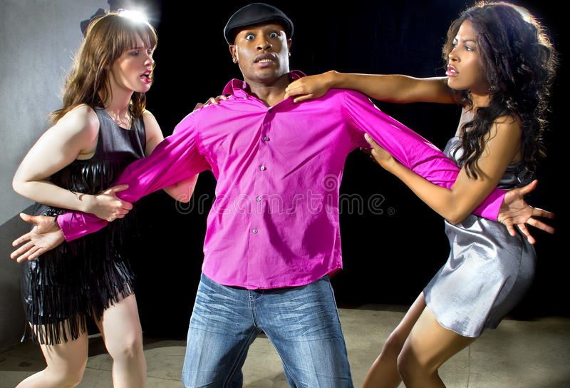 Single Women Fighting Over A Man Stock Photo Image 49811217