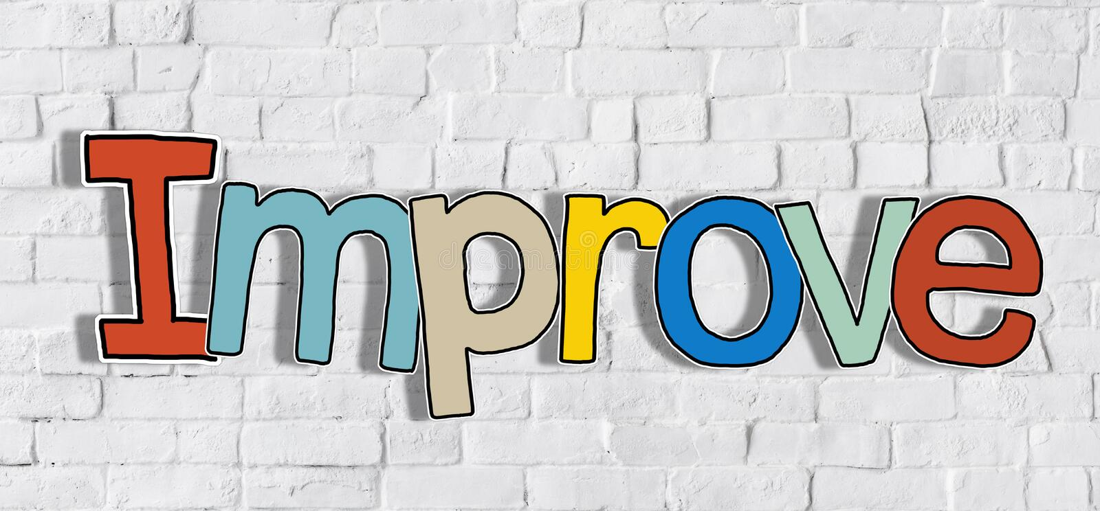 Single Word Colourful Improve Concepts royalty free stock image