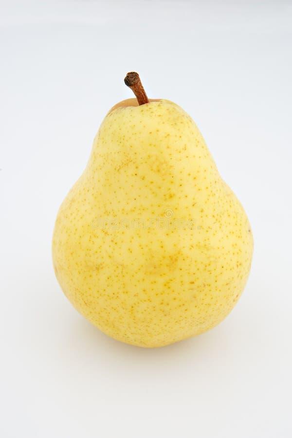 Single yellow pear stock photo