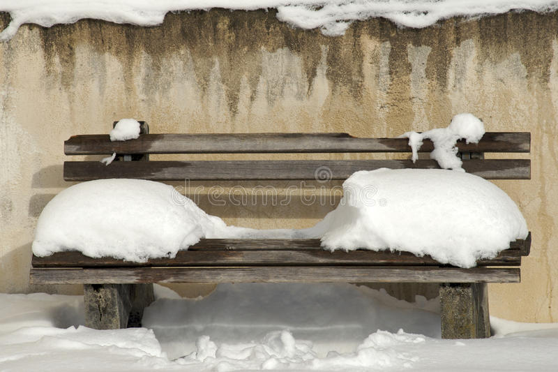 Singly. Bench royalty free stock photo