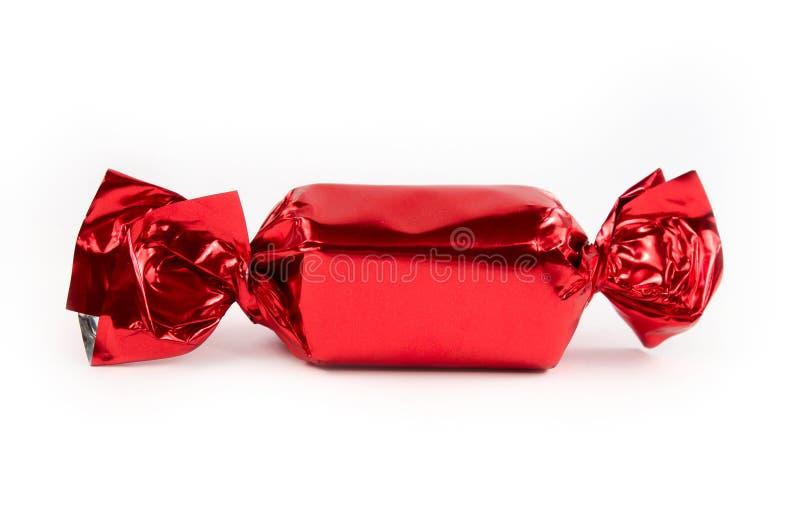 Singola caramella rossa isolata immagine stock libera da diritti