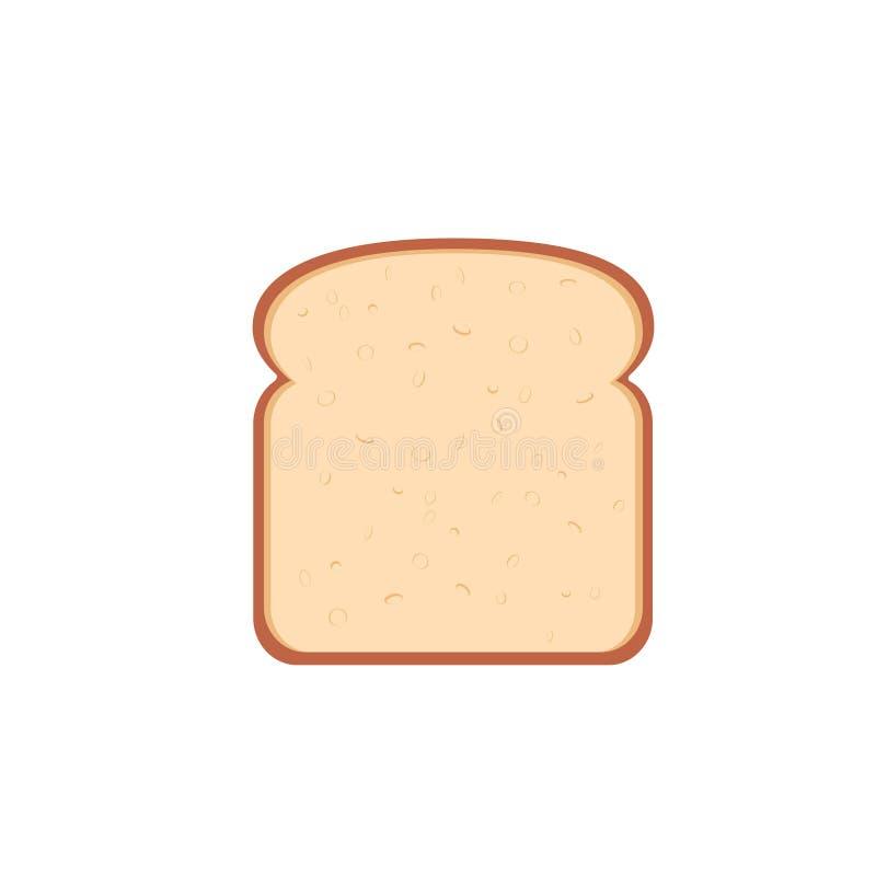 Singola icona della fetta del pane di progettazione piana illustrazione vettoriale