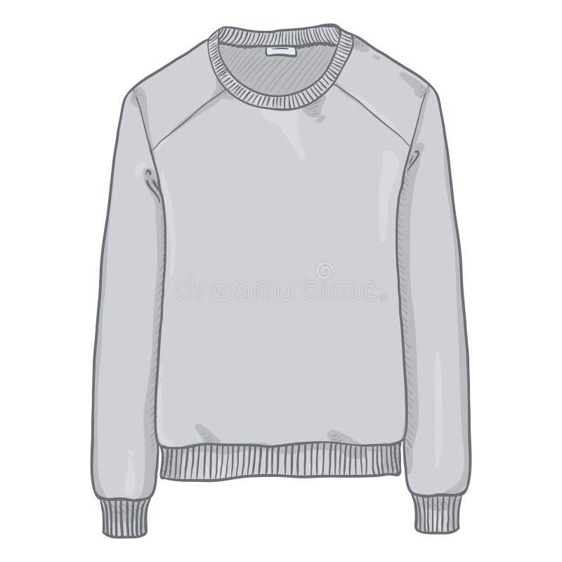 Singola illustrazione del fumetto di vettore - Gray Sweatshirt leggero royalty illustrazione gratis