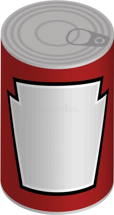 Singola latta royalty illustrazione gratis