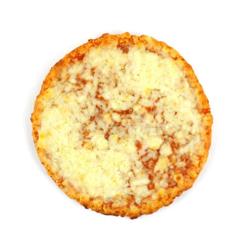 Singola pizza di formaggio del servizio fotografia stock