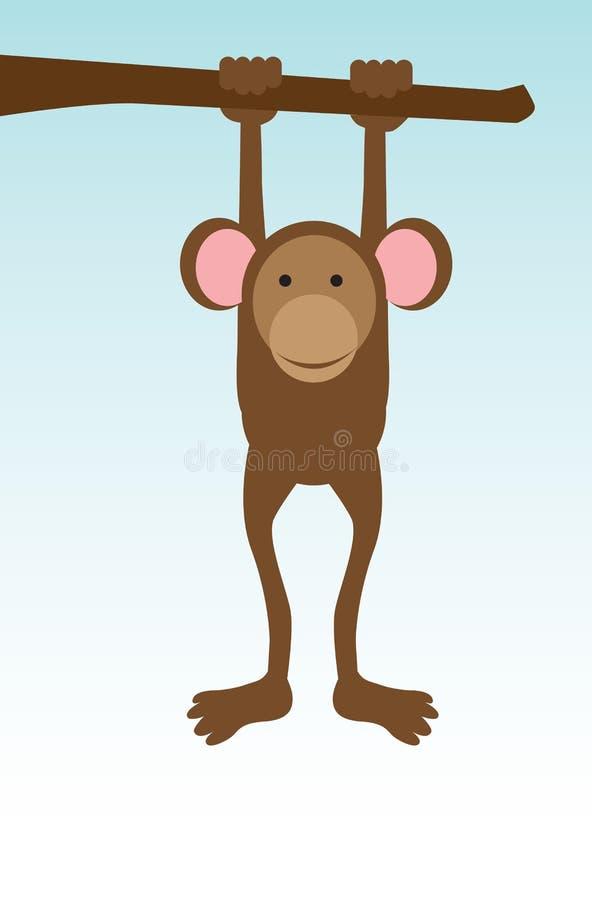Singola scimmia illustrazione di stock