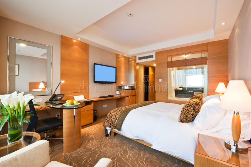Singola stanza di lusso in hotel immagine stock
