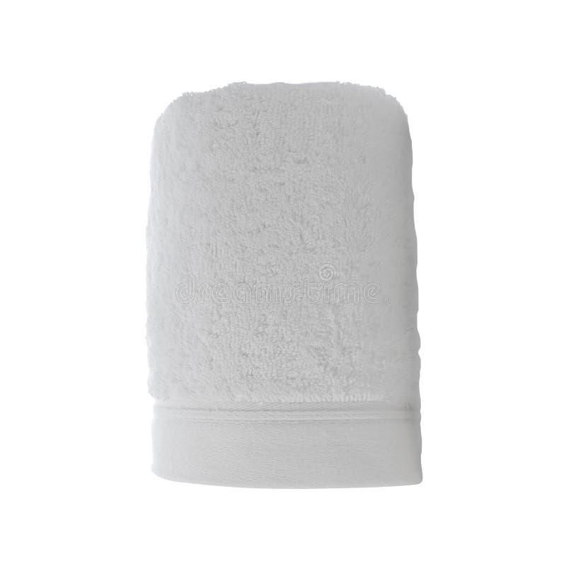 Singolo asciugamano del panno isolato immagini stock libere da diritti