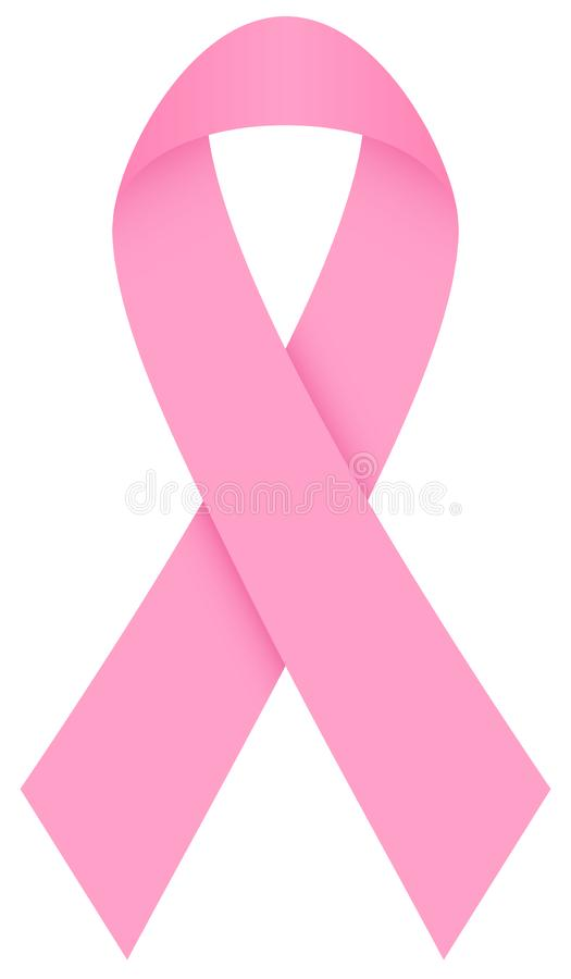 Singolo cancro al seno rosa del nastro illustrazione vettoriale