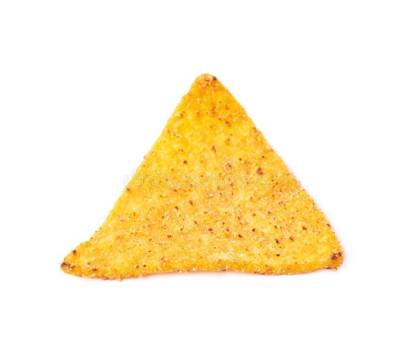 Singolo chip di tortiglia del cereale isolato fotografie stock