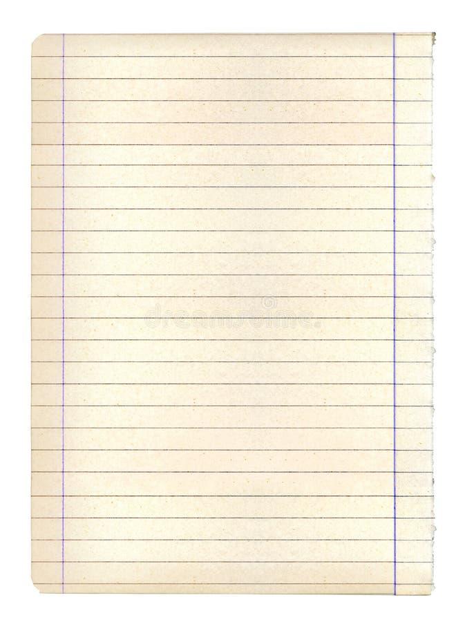 Singolo foglio di vecchia carta per appunti grungy fotografia stock libera da diritti
