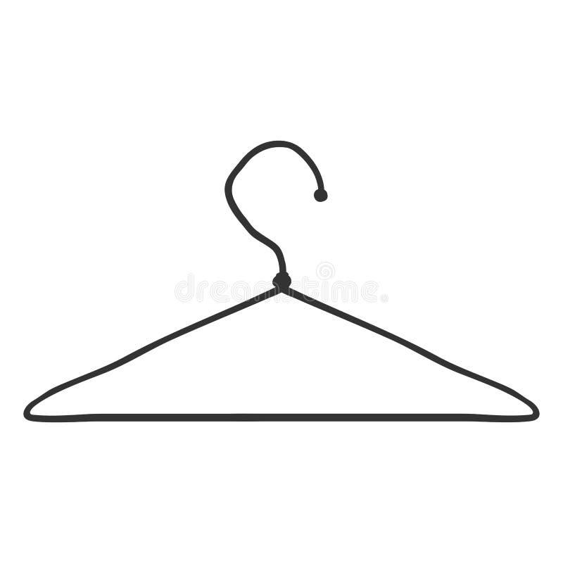 Singolo gancio della spalla del guardaroba di schizzo di vettore illustrazione vettoriale
