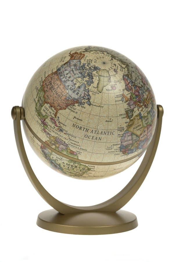 Singolo globo del mondo fotografie stock libere da diritti