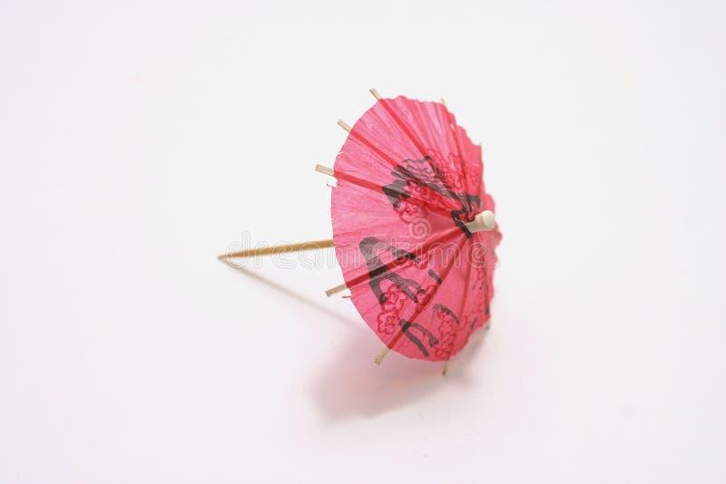 Singolo ombrello del cocktail fotografia stock