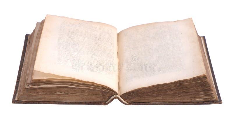 Singolo vecchio libro rilegato di cuoio fotografia stock