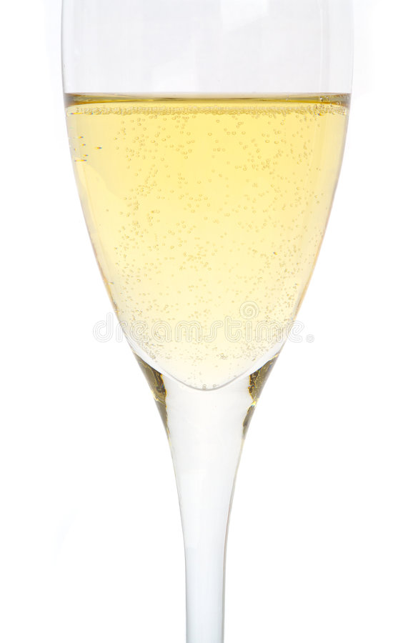 Singolo vetro di Champagne immagine stock