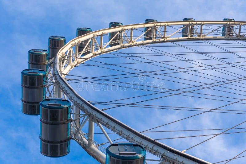 Singpore Flyer capsule. Ferris wheel royalty free stock photos