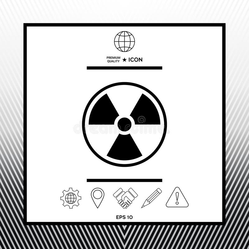 Ionizing Radiation Icon Stock Vector Illustration Of Pictogram
